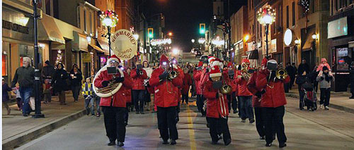Newmarket Citizens Band performing at the Candlight Parade